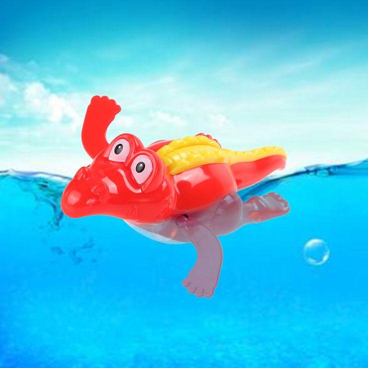 赤ちゃんの時計仕掛けチェーン水泳ワニのおもちゃ子供入浴浴槽玩具浴槽演奏玩具ランダムな色