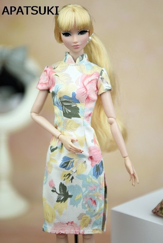 Doll Accessories Cosplay Dress Clothes For Barbie Doll Cheongsam Chinese  Dress Vestido Qipao Evening Dresses For Blythe 1 6 Doll.  60b488c12462
