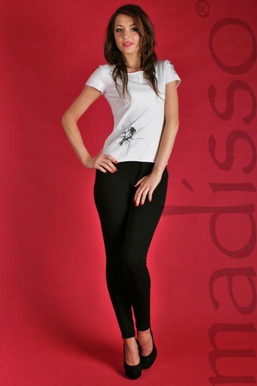 Koszulka z nadrukiem - muchy MADISSO L - od 1 zł BCM