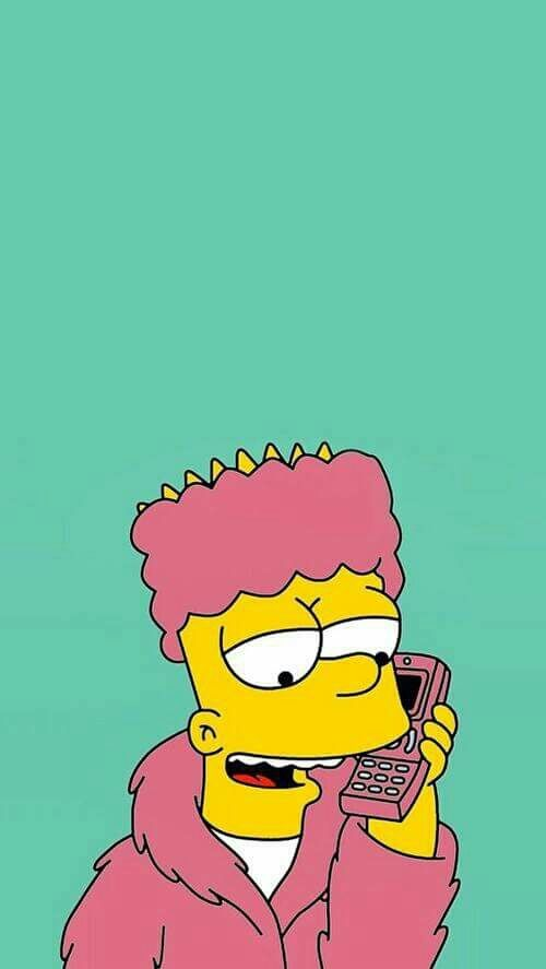 simpsons, bart, and wallpaper
