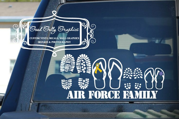 Stick family Proud military family vinyl vehicle decal