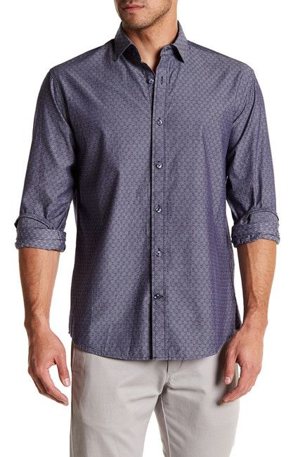 Image of James Campbell Tolson Printed Regular Fit Shirt