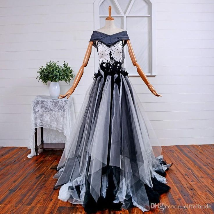 83 best black white wedding ideas with lilies and roses for Gothic wedding dresses cheap