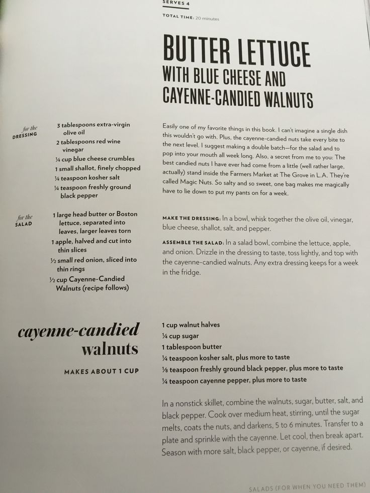 Butter Lettuce with blue cheese and cayenne-candied walnuts - Cravings by Chrissy Teigen