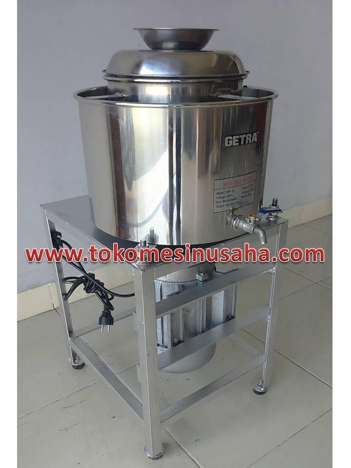 Mesin Mixer Bakso adalah mesin yang digunakan untuk mengaduk adonan bakso. Tipe : SXW-22 Dimensi : 39 x 34 x 84 cm Power : 2.200 W Daya : 220 V/ 1 P/ 50 Hz Kapasitas : 4 Kg / proses Bahan : Stainless steel