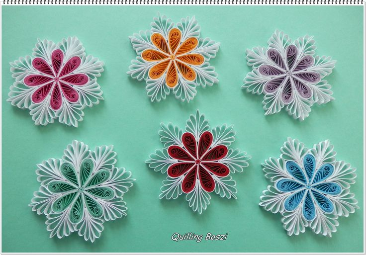Multicolored 8-Sided Quilled Motifs