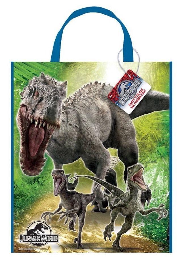 "13"" x 11"" Jurassic World Park Dinosaurs Birthday Party Treat Loot Gift Tote Bag    eBay"