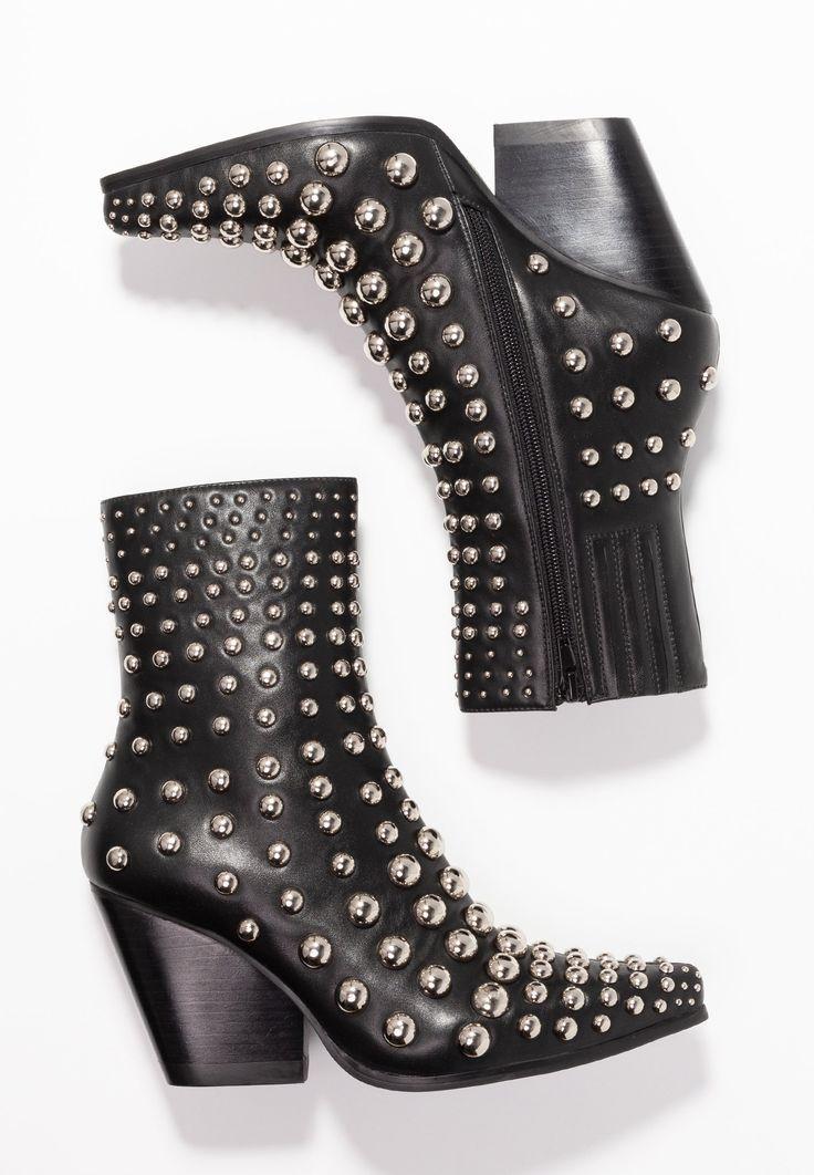0661726108b COLSTON - Cowboy/biker ankle boot - black/silver @ Zalando.co.uk ...