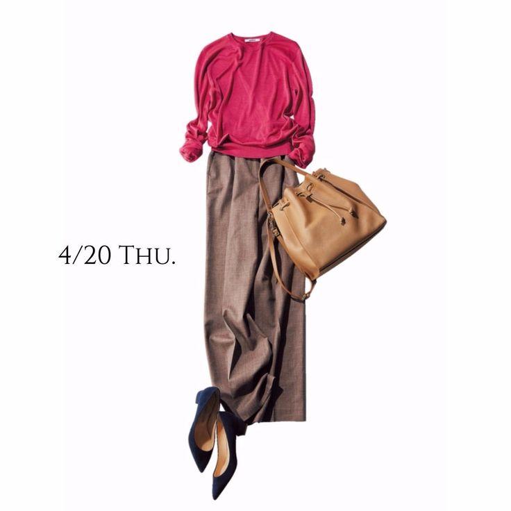 旬度の高いワイドパンツに大人ピンクを合わせて話題のGINZA SIXへMarisol ONLINE|女っぷり上々!40代をもっとキレイに。