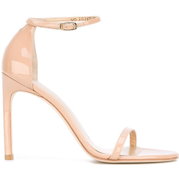 Stuart Weitzman Nudist sandals (6.916.640 IDR) ❤ liked on Polyvore featuring shoes, sandals, ivory, stuart weitzman shoes, stuart weitzman, stuart weitzman sandals, ivory sandals and ivory shoes