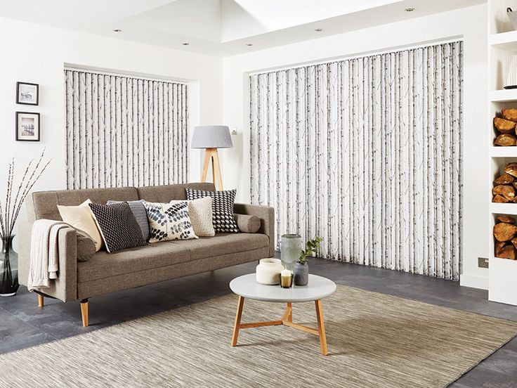 Woodland Birch is a printed design available as Vertical and Roller