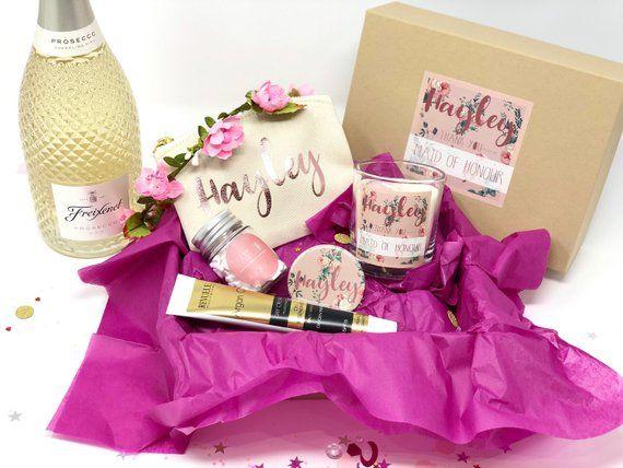 Personalised Bridesmaid Gift Box Filled Thank You Bridesmaid Box