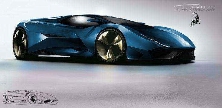 Lamborghini concept car by ~G-ESCH on deviantART