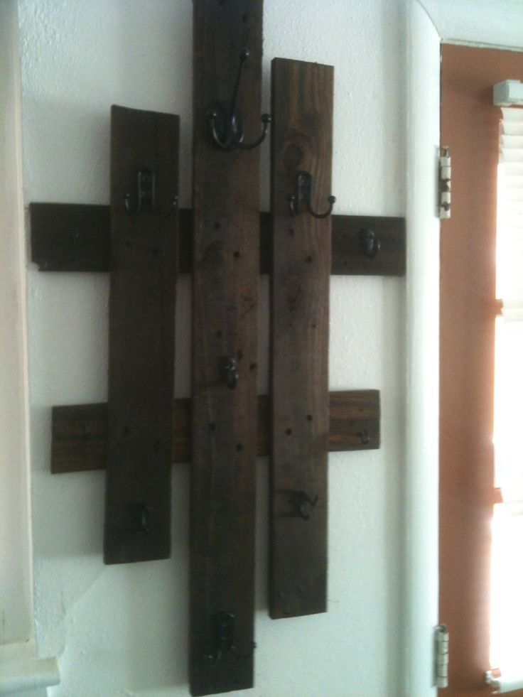 Coat hanger from old pallet planks - Vesak vyrobeny ze dreva ze stare palety
