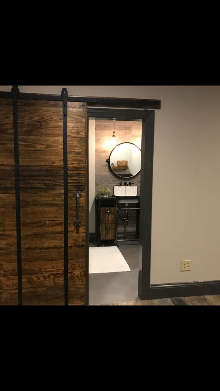 Loft style guys bathroom