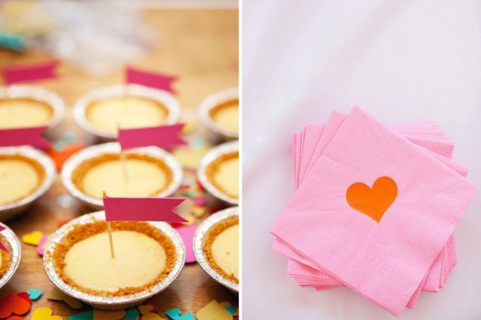 Mini pies!: Minis Pies, Keys Limes Pies, Desserts Ideas, Bridal Shower Ideas, Hands Pies, Chess Pies, Heart Napkins, Minis Desserts, Cocktails Napkins