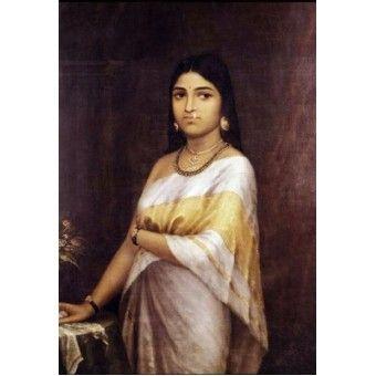 Kerala Royal Lady or Malayalee lady (Ravi Varma Print)