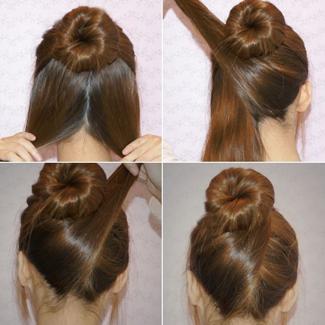 Adorable DIY Criss-Cross Hair Bun Updo  - http://www.stylishboard.com/adorable-diy-criss-cross-hair-bun-updo/