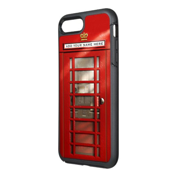 Funny British City Of London Red Phone Booth Otterbox Iphone Case Zazzle Com In 2020 Iphone Cases Otterbox London Red Phone Booth Red Phone Booth