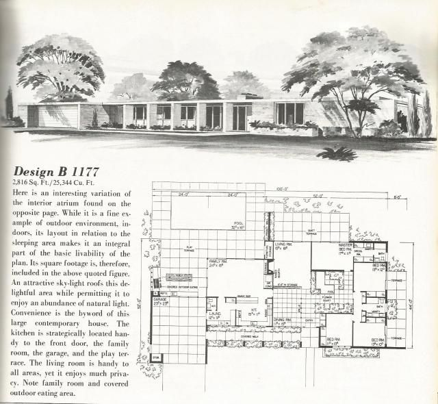 1000 images about vintage house plans 1970s on pinterest for Country estate home plans