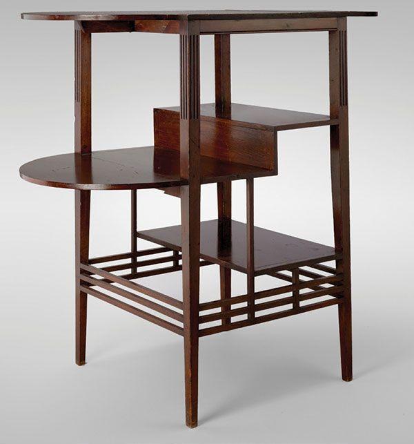 Japanese-inspired tea table - Edward William Godwin (18331886) [600x643]