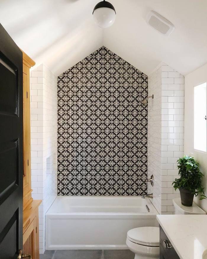 Palazzo 12 X 12 Decorative Tile In Castle Graphite Florentina In 2020 Farmhouse Shower Bathroom Tile Designs Bathroom Interior
