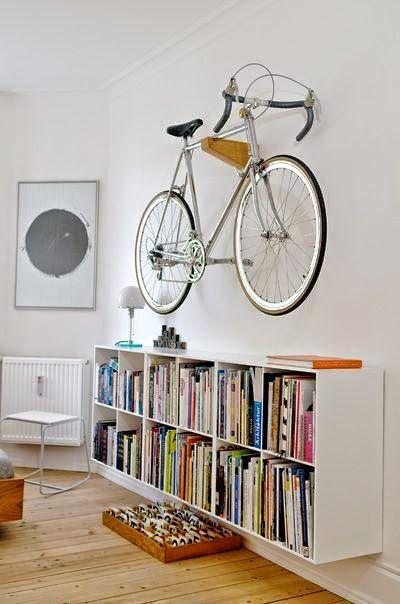 Siempre guapa con norma cano como guardar tu bicicleta en tu casa o piso muebles pinterest - Guardar bici en piso pequeno ...