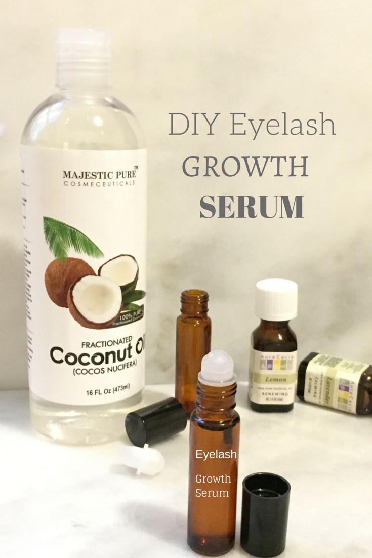DIY eyelash growth serum