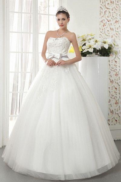 Tulle Elegant Strapless Bridal Dresses wr0088 - http://www.weddingrobe.co.uk/tulle-elegant-strapless-bridal-dresses-wr0088.html - NECKLINE: Strapless. FABRIC: Tulle. SLEEVE: Sleeveless. COLOR: Ivory. SILHOUETTE: Ball Gown. - 159.59