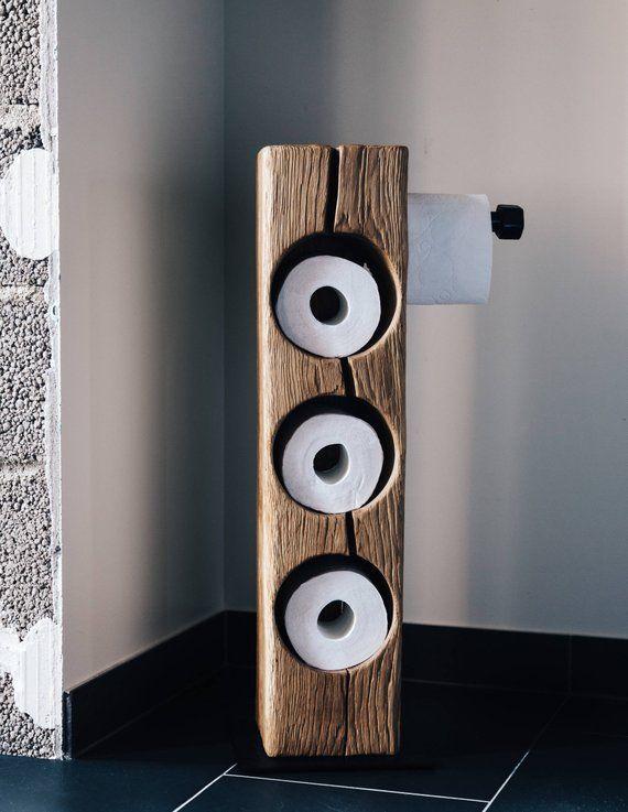 Toilet paper holder toilet paper storage industrial   – Badezimmer renovieren