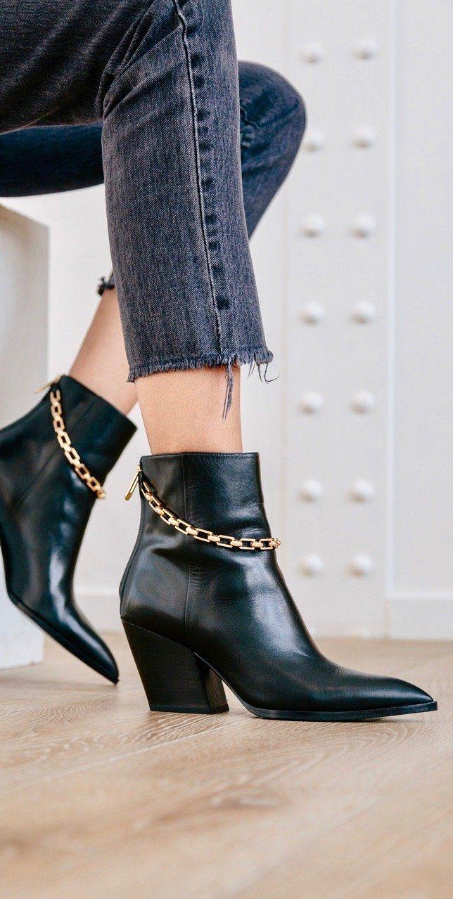 2de4fa202c0 Block Heel Bootie with Chain Detail by Stella Luna Resort 2019 ...