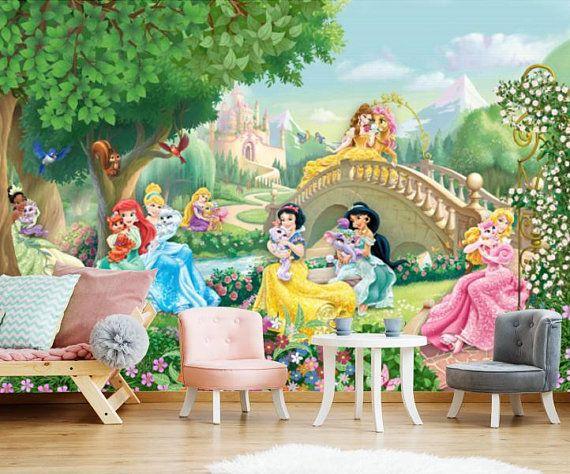 wallpaper photo mural Princess garden WALL MURAL self adhesive peel /& stick large mural