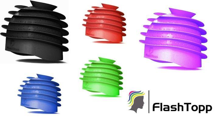 Το FlashTopp είναι η πιό νέα μόδα και η εξέλιξη γιά τα μαλλιά στον κόσμο! Αυτή η εκπληκτική πατέντα καπέλο είναι η επαναστάση στον χώρο των κομμωτηρίων και μπορείτε κυριολεκτικά να βάψετε επάνω στα μαλλιά ακόμα και μέχρι εώς έξι διαφορετικά χρώματα με 100% επαγγελματικά και εντυπωσιακά αποτελέσματα και με πανεύκολο τρόπο. Θα εκπλαγείτε πόσο εύκολο είναι να δημιουργήσετε ανταύγειες ή ''colombre '' με μιά φορά χρήσης του καπέλου...