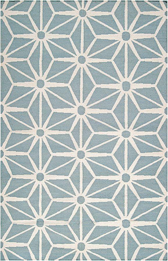 Un motif graphique pour ce tapis imaginé par Jill Rosenwald, 100 % laine. ©Westwing