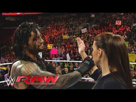 "Roman Reigns reminds Stephanie McMahon that he is the ""authority"" in WWE: Raw, March 21, 2016 - YouTube"