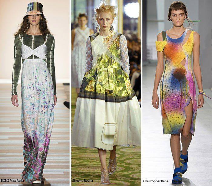 Главные тренды года ✨  ✧Акварельные рисунки  Вместо мазков краски здесь нас встречают интригующие акварели знаковых дизайнеров. В этой размытой выразительности есть определенная романтика, подчеркивающая женственность, как у Calvin Klein с его комбинацией цветов, BCBG Max Azria с синими и фиолетовыми украшениями на белом фоне, а также Simone Rocha с невероятно весенним образом легкого платья со стеклянным бисером на груди.  #MIRAMODASTORE #мода #одежда #дизайнерскаяодеждавмоскве #фешн…