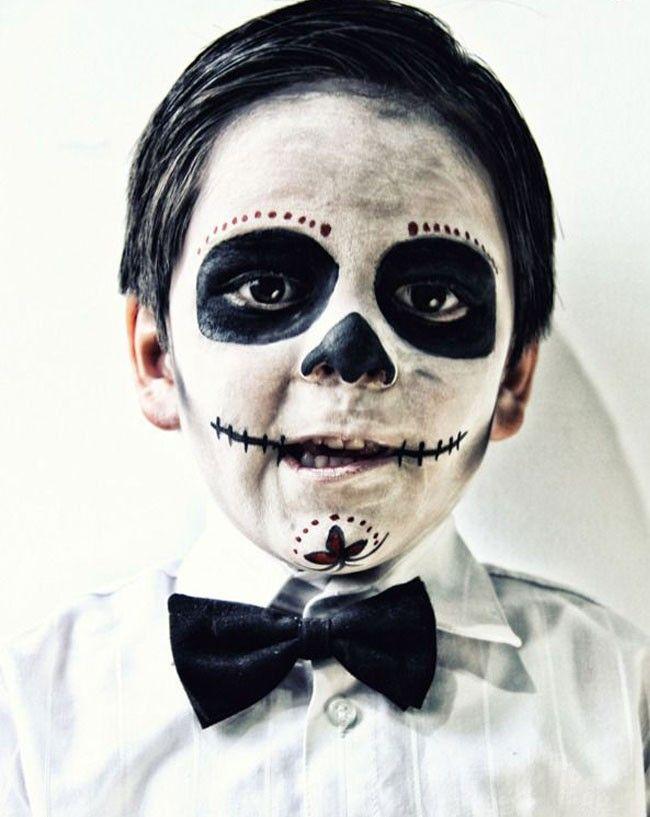 8 maquillajes de calavera para niños
