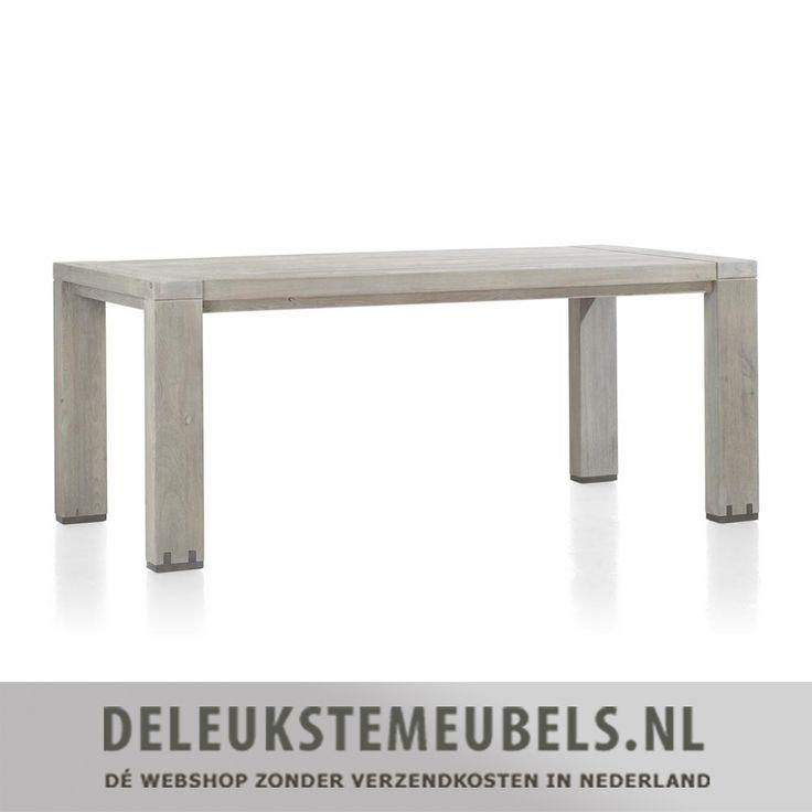 Deze stoere eettafel avola met de afmeting 90x190 cm van het merk Henders & Hazel is gemaakt van elm hout in de kleur stonegrey. De tafel heeft een natuurlijke robuuste uitstraling.  Wil je deze tafel op een andere maat of meer meubels uit de Avola collectie? Dat kan, tafels en meubels van het merk Henders & Hazel online kopen doe je snel en zonder verzendkosten bij deleukstemeubels.nl!