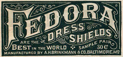 Fedora Dress Shields 1890.