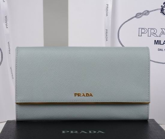 Prada Saffiano Leather Wallet 1M1311 Grey | Prada Wallet ...