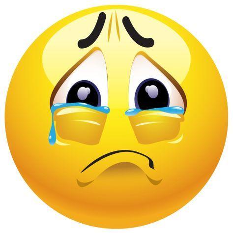 Emoticono cara llorando: Se utiliza para mostrar un fuerte sentimiento de sufrimiento, y no tanto para demostrar tristeza.
