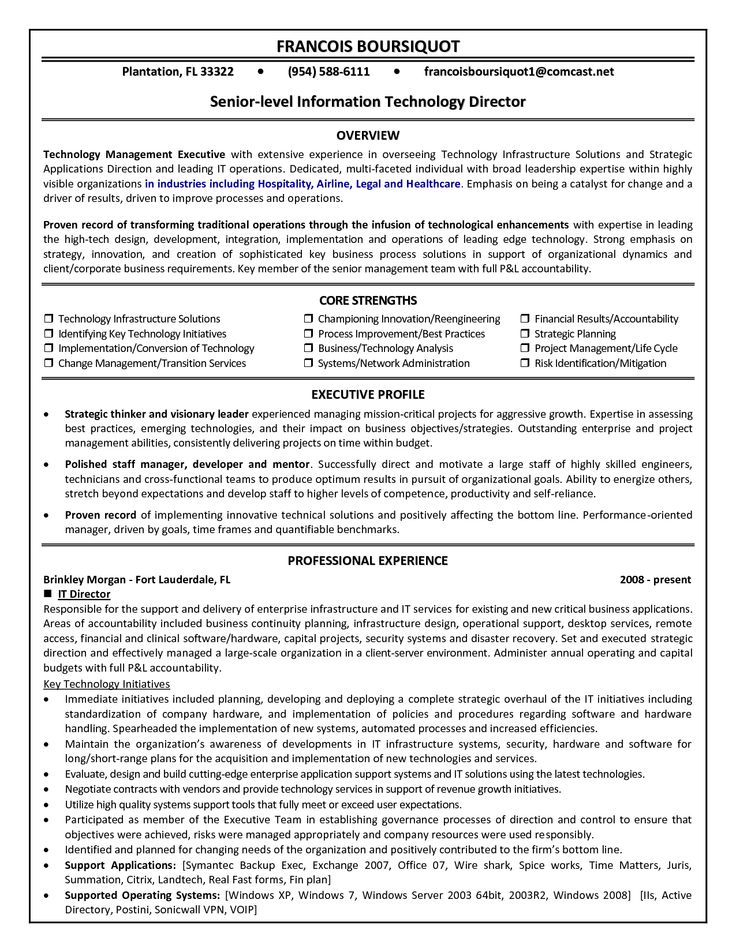 8 best images about best it director resume templates