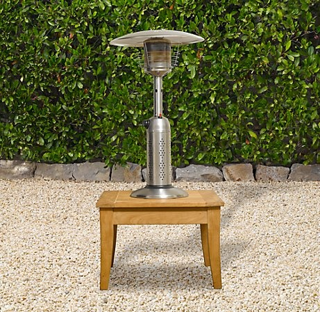 Rh S Deluxe Tabletop Propane Patio Heater Hammered Bronze Stay Toasty Warm Outdoors Even After Dark