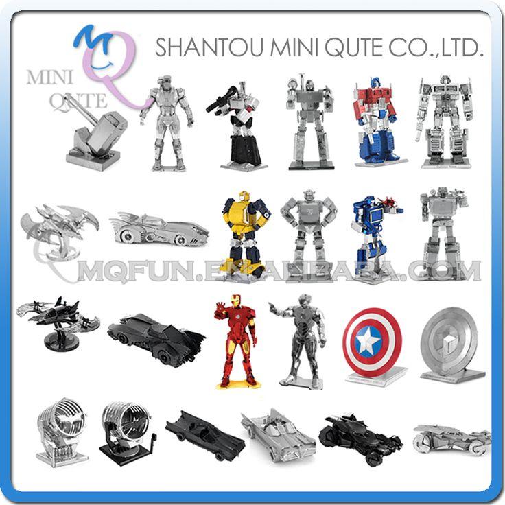 Piece Fun 3D Laser Cut DIY Assembly Models Metal Puzzle Avengers batman Iron Man Bumblebee Shield Adult kids educational toy #Affiliate