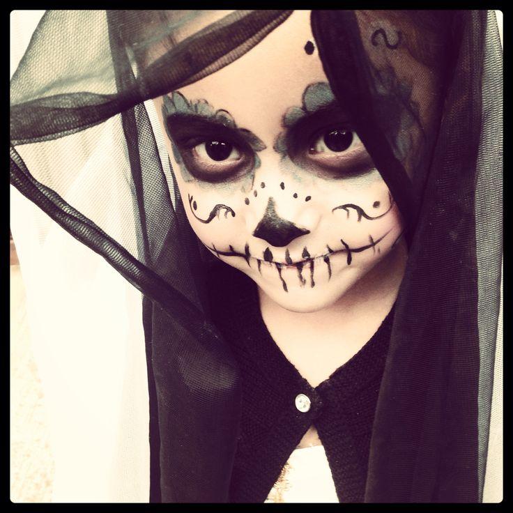 Catrina makeup sugarskull diademuertos maquillaje kids