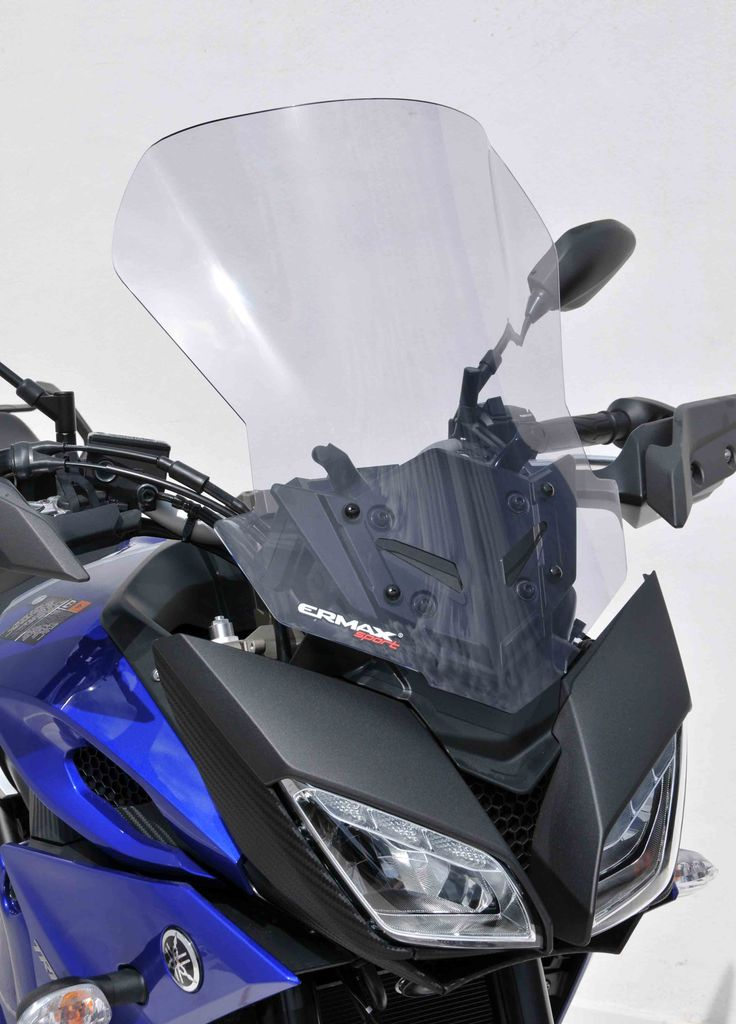 High protection 50cm windshield light grey with air intake