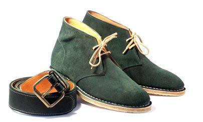 Polacchine color verde con cintura in coordinato! #menuder #scarpesumisura #madeinitaly