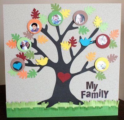 Mamãe vai adorar um presente como essa arvore da família feita com tanto amor.   Instruções você encontra neste site .     Fonte: http...