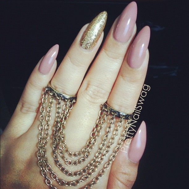 Stilleto nails are bad enough as it is, but painting the ring finger nail a different color? Who came up with this crap