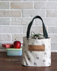 coser almuerzo patrón de la bolsa caja